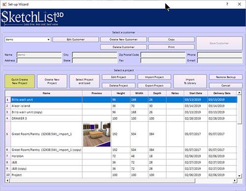 SketchList 3D - Software design pentru scaune și mobilier