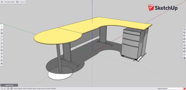 SketchUp - Software design pentru scaune și mobilier