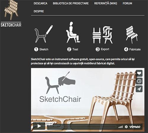 SketchChair - Software design pentru scaune și mobilier