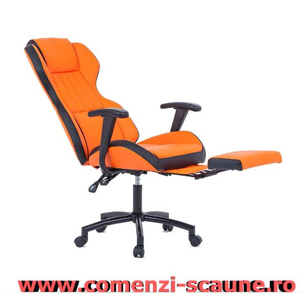 Scaun-de-birou-cu-suport-picioare-portocaliu