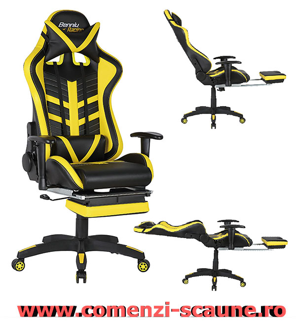 Scaune-de-birou-confortabile-cu-suport-pentru-picioare-gaming-galben