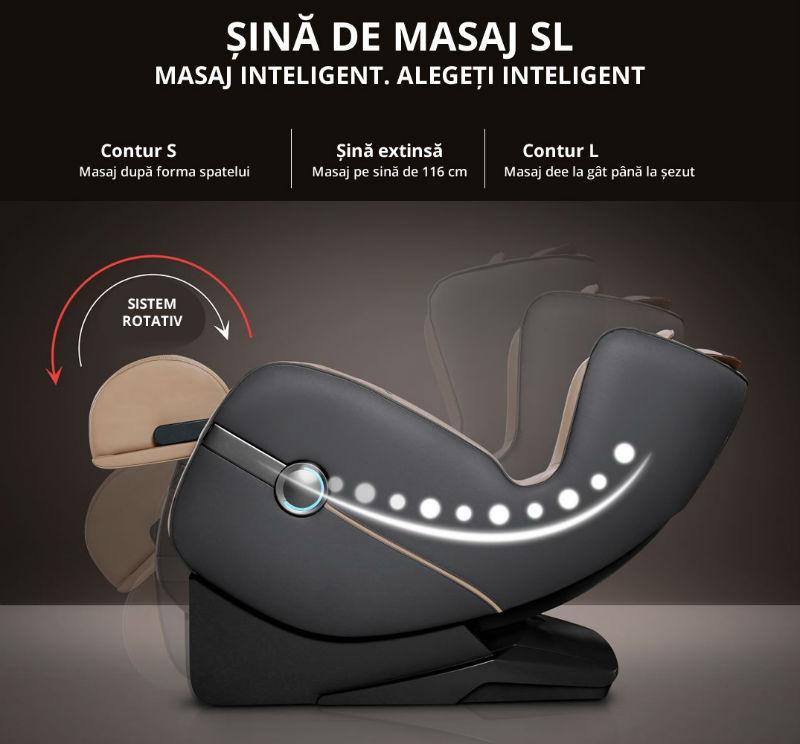 Fotoliu de masaj 3D Full Body cu sina de masaj