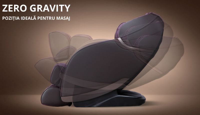 Fotoliu-de-masaj-cu-incalzire-si-bluetooth zero gravity
