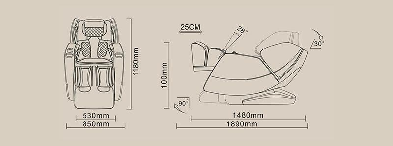 fotoliu-de-masaj-cu-joystick-3D-incalzire-la-spate-si-picioare-dimensiuni
