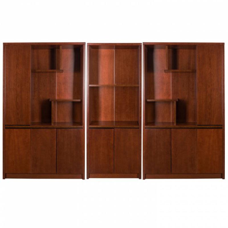 Set dulap biblioraft pentru birou directorial format din 3 piese-1807-1