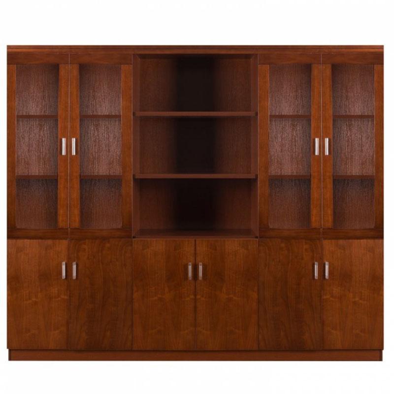 Dulap de birou cu vitrina pentru birou directorial-240 cm-4506-1