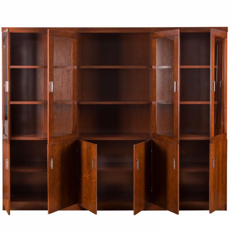 Dulap de birou cu vitrina pentru birou directorial-240 cm-4506-2