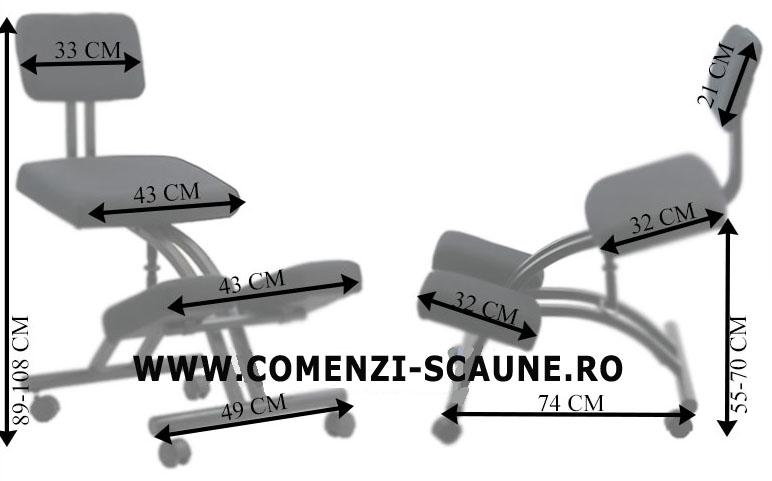 DIMENSIUNI- recomandate persoanelor cu probleme lombare tip kneeling chair OFF 094-2