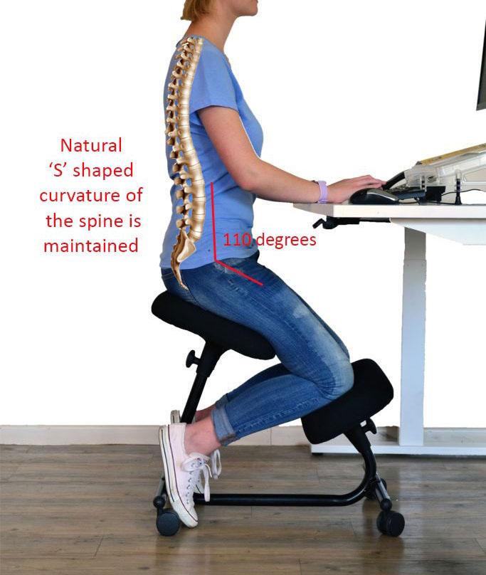 Scaune recomandate persoanelor cu probleme lombare tip kneeling chair OFF 094-1