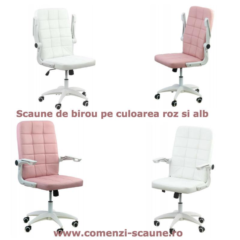 Scaun-birou-roz-si-alb-colors