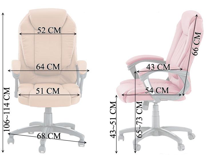 dimensiuni-scaun ergonomic de birou visiniu