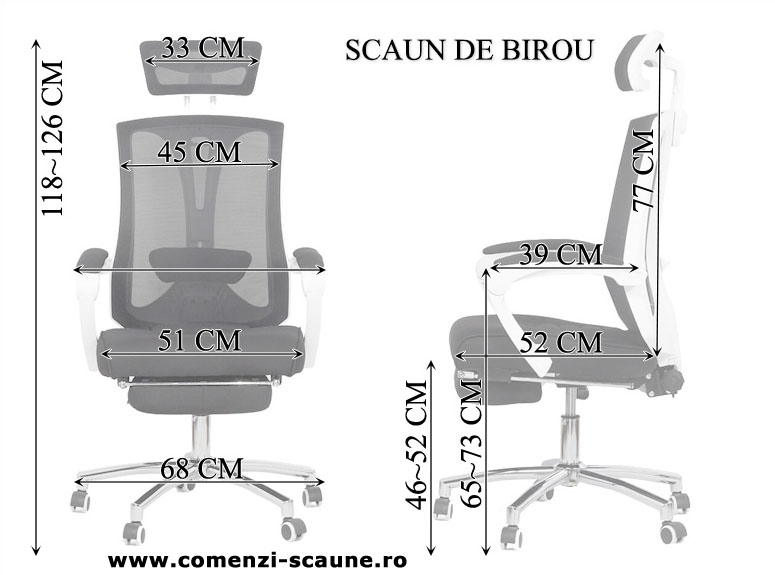 Scaun de birou ergonomic cu suport pentru picioare Office 420