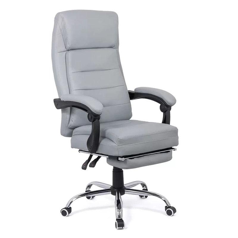 Scaune directoriale ieftine cu suport de picioare pe culoarea gri și negru-Transport Gratuit-6