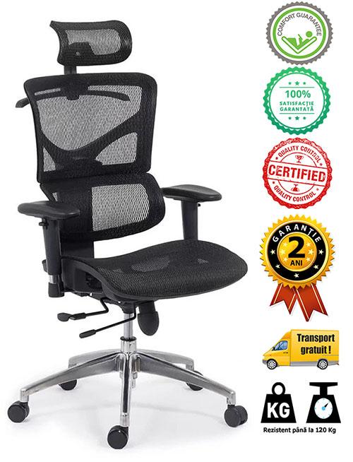 Scaune ergonomice rezistente si multifunctionale pe culoarea gri si negru-avantaje