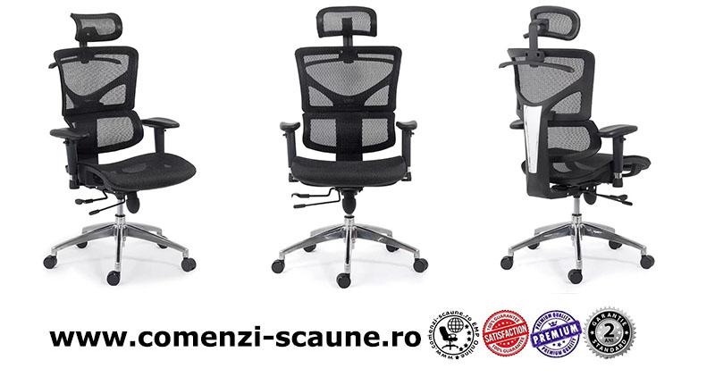 Scaune ergonomice rezistente si multifunctionale pe culoarea gri si negru-3-800