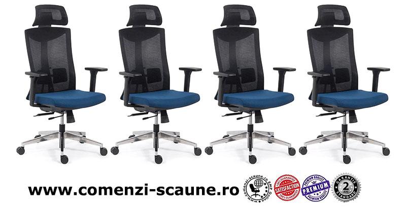 Scaun ergonomic multifunctional si elegant pe culoarea albastru cu negru-SYYT-9501-1