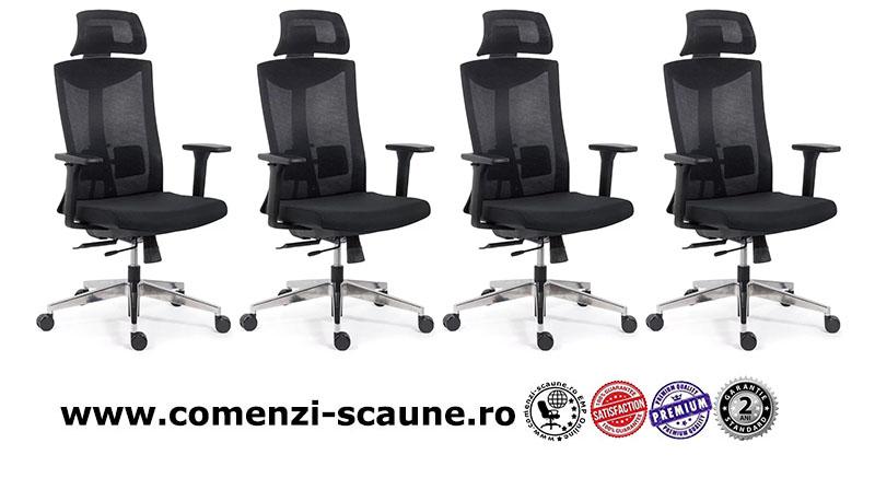 Scaun ergonomic multifunctional si elegant pe culoarea negru-SYYT-9501-1