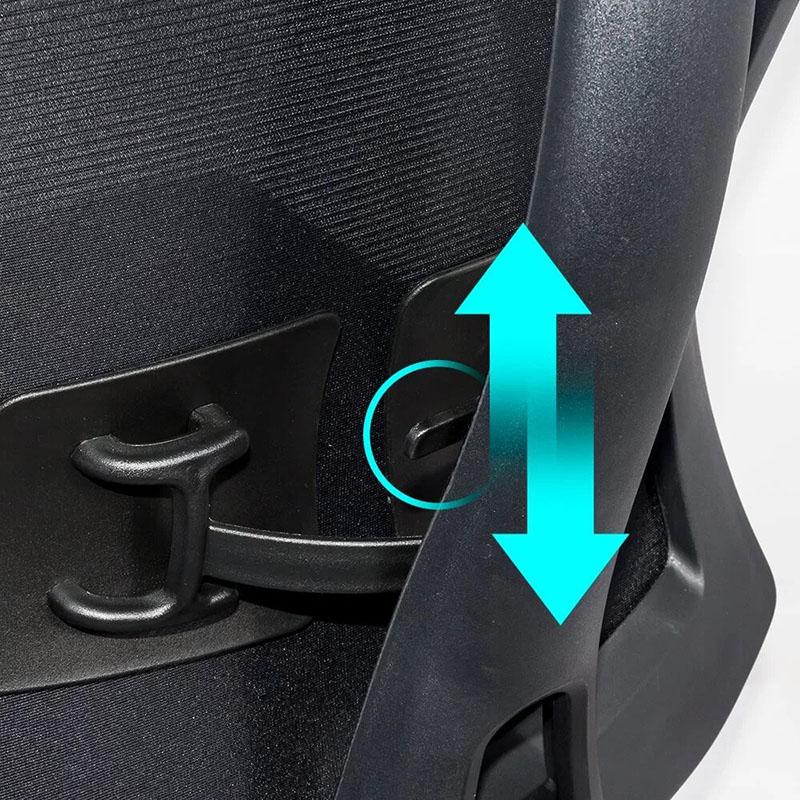 Scaun ergonomic multifunctional si elegant pe culoarea negru-SYYT-9501-3