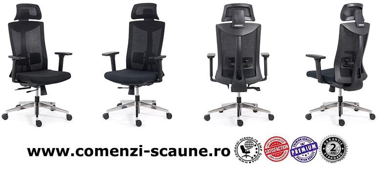 Scaun ergonomic multifunctional si elegant pe culoarea negru-SYYT-9501-2