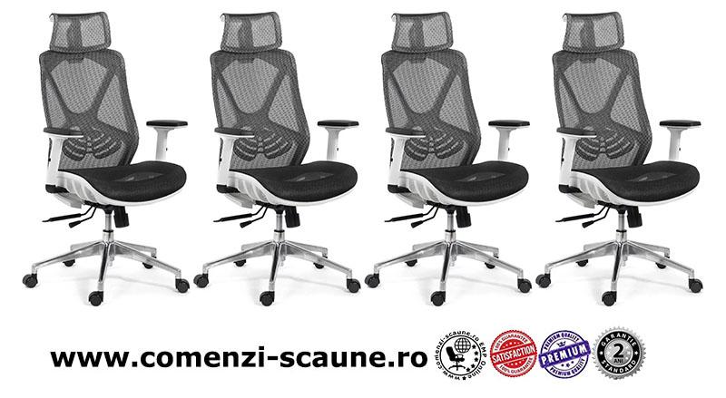 Scaun ergonomic multifunctional si elegant cu tetiera pe culoarea negru-SYYT-9503-1