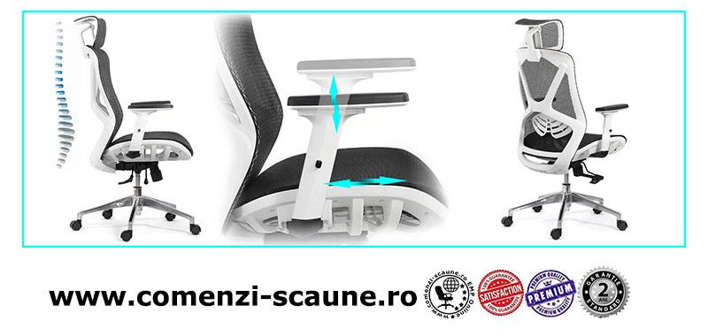 Scaun ergonomic multifunctional si elegant cu tetiera pe culoarea negru-SYYT-9503-2