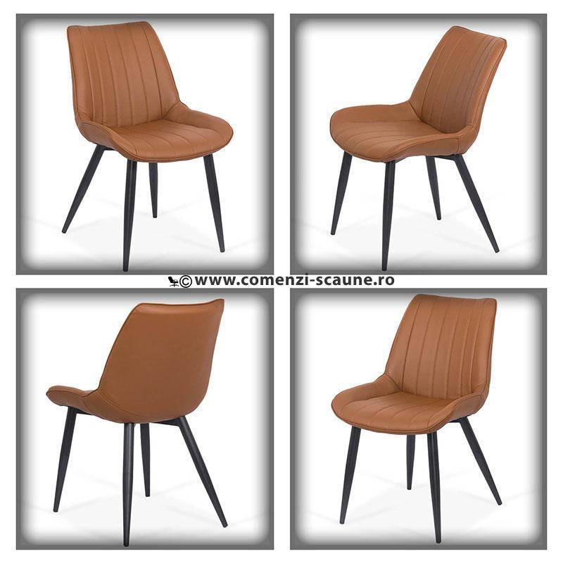 Set 4 scaune bucatraie-maro