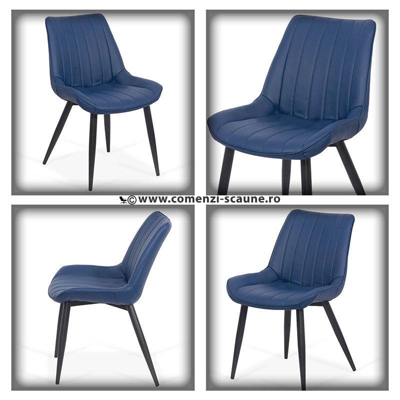 Set 4 scaune bucatraie pe albastru
