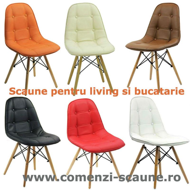 Set 6 scaune living-bucatarie in 6 culori