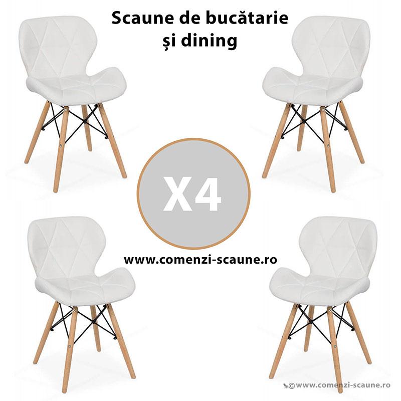 set-4-scaune-de-bucatarie-din-piele-si-lemn-alb