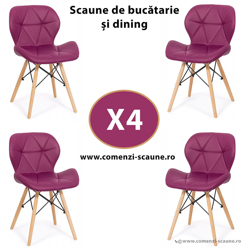 set-4-scaune-de-bucatarie-din-piele-si-lemn-mov
