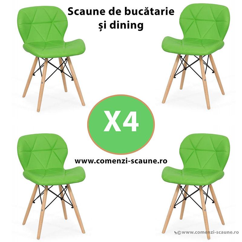set-4-scaune-de-bucatarie-din-piele-si-lemn-verde