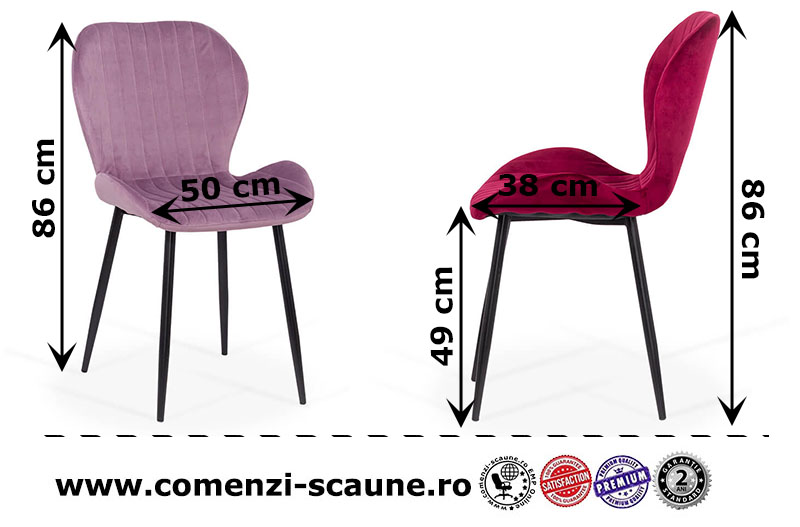 dimensiuni-scaun-bucatarie-living-din-catifea-in-3-culori
