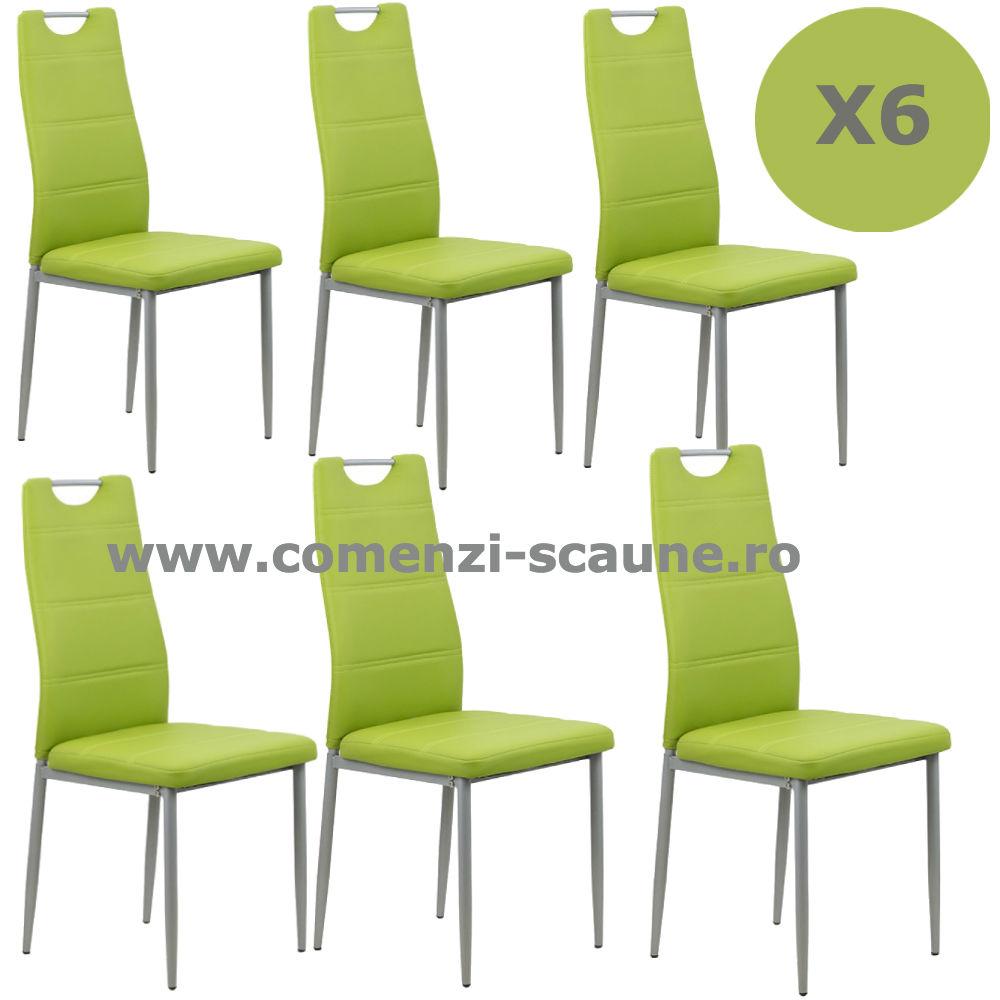 Set 6 scaune de bucatarie din piele ecologica in 4 culori-6