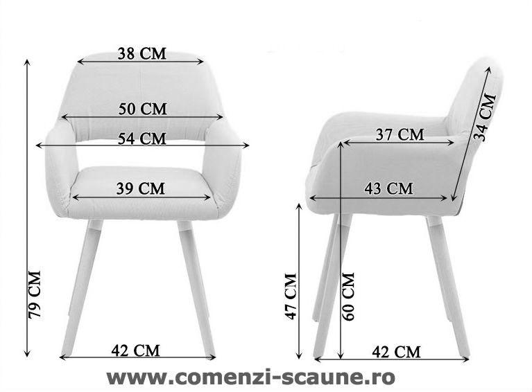Dimensiuni Scaun de bucatarie si relaxare pe culoarea negru