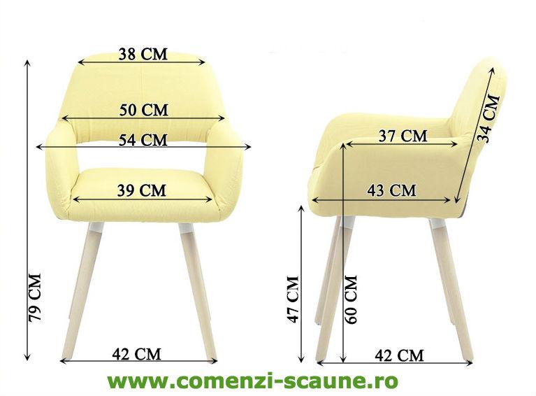 Dimensiuni Scaun de bucatarie si relaxare pe culoarea verde