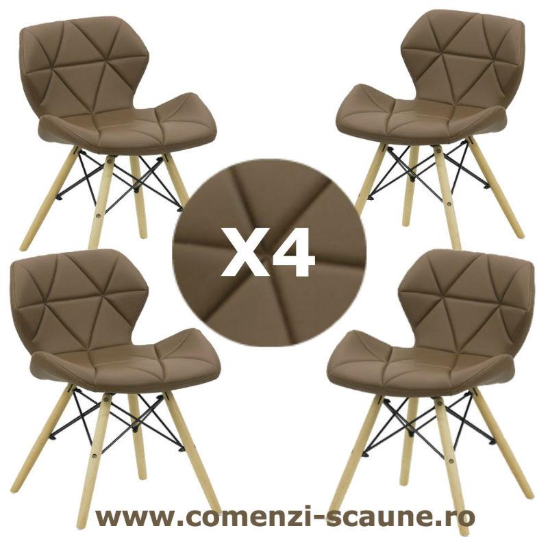 Set-4-scaune-de-bucatarie-din-piele-si-lemn