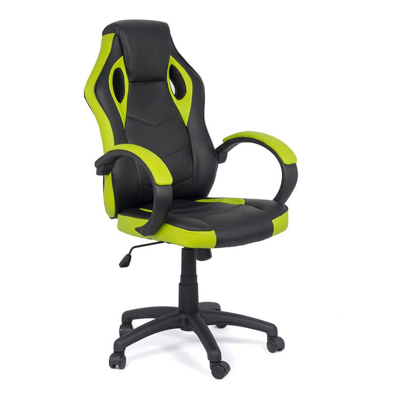 Scaune de gaming cu design modern pe culoarea negru cu verde-305