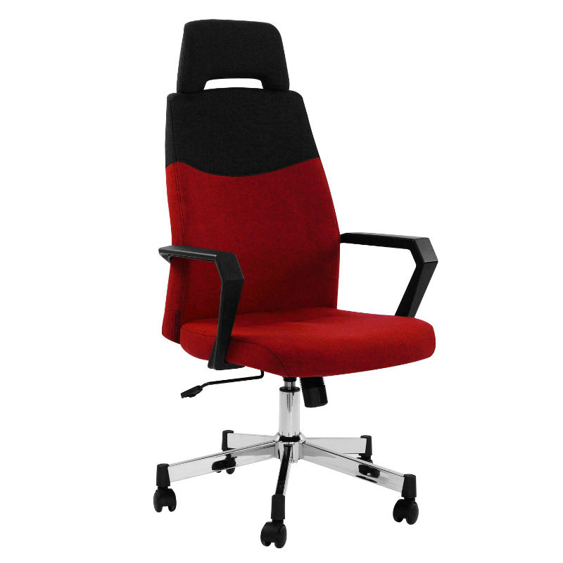 Scaun-birou-directorial-rotativ-material-textil-rosu-negru-Focus