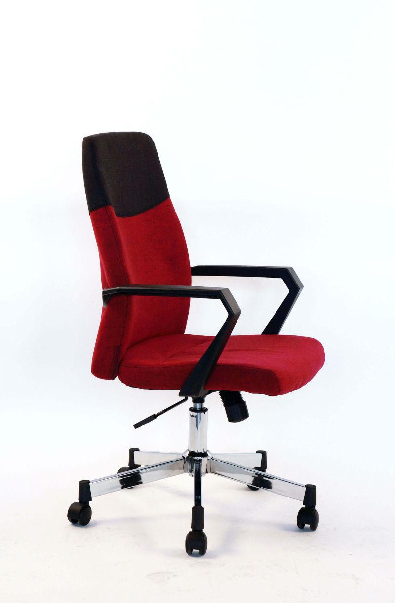 Scaun-directorial-material-textil-rosu-negru