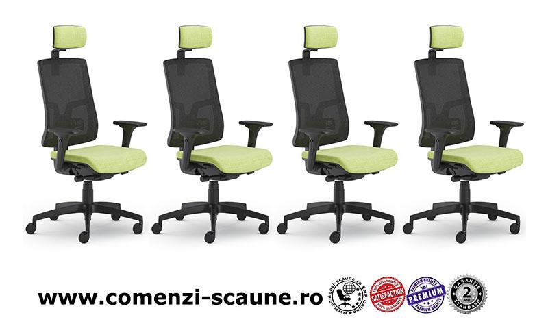 Scaun ergonomic confortabil și relaxant-PURE BLACK MESH-oferta