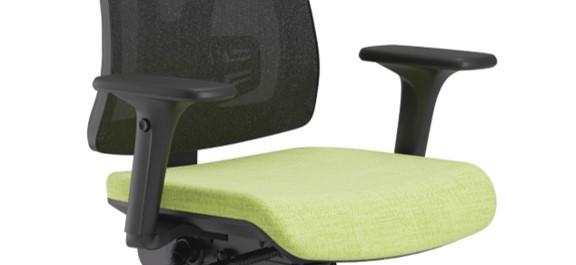 Scaun ergonomic confortabil și relaxant-PURE BLACK MESH-brate reglabile
