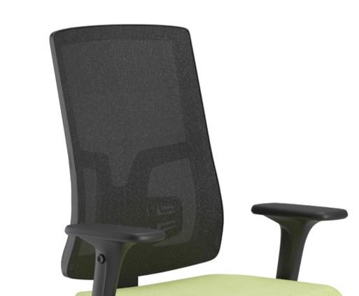 Scaun ergonomic confortabil și relaxant-PURE BLACK MESH-Spătar mesh