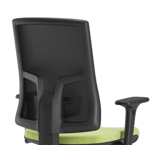 Scaun ergonomic confortabil și relaxant-PURE BLACK MESH-Suport lombar fix