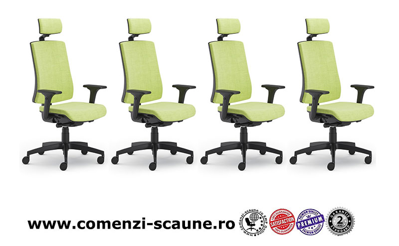 Scaun ergonomic confortabil și relaxant-PURE BLACK T PDH-1
