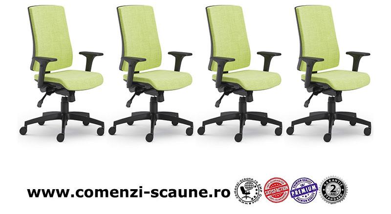Scaun ergonomic confortabil și relaxant-PURE BLACK T-1