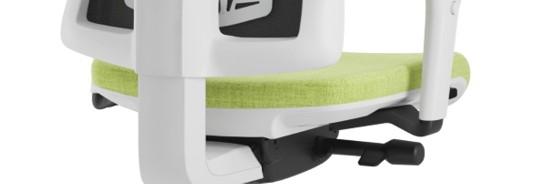 Scaun ergonomic confortabil si relaxant-PURE WHITE MESH-Mecanism sincron