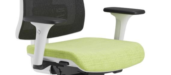 Scaun ergonomic confortabil si relaxant-PURE WHITE MESH-Brațe reglabile