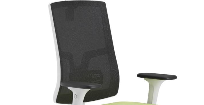 Scaun ergonomic confortabil si relaxant-PURE WHITE MESH-Spătar tapițat
