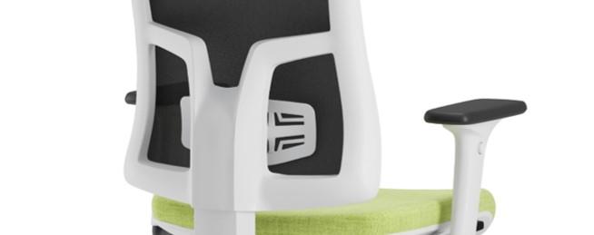 Scaun ergonomic confortabil si relaxant-PURE WHITE MESH-Suport lombar fix