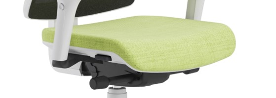 Scaun ergonomic confortabil si relaxant-PURE WHITE MESH-Translație șezut